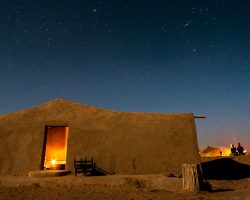 Desert Bivouac Camp at night
