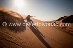 Desert Bivouac Sandboarding Fun Sahara