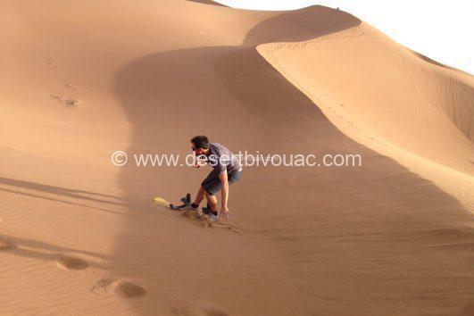 Sandboarding Desert Bivouac